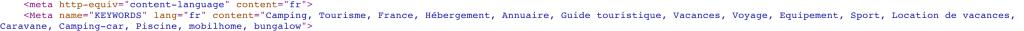 code source mots cles