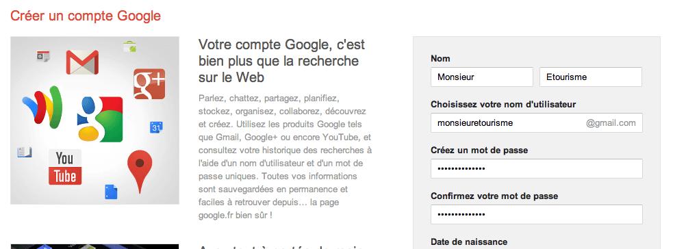 Se créer un compte Gmail